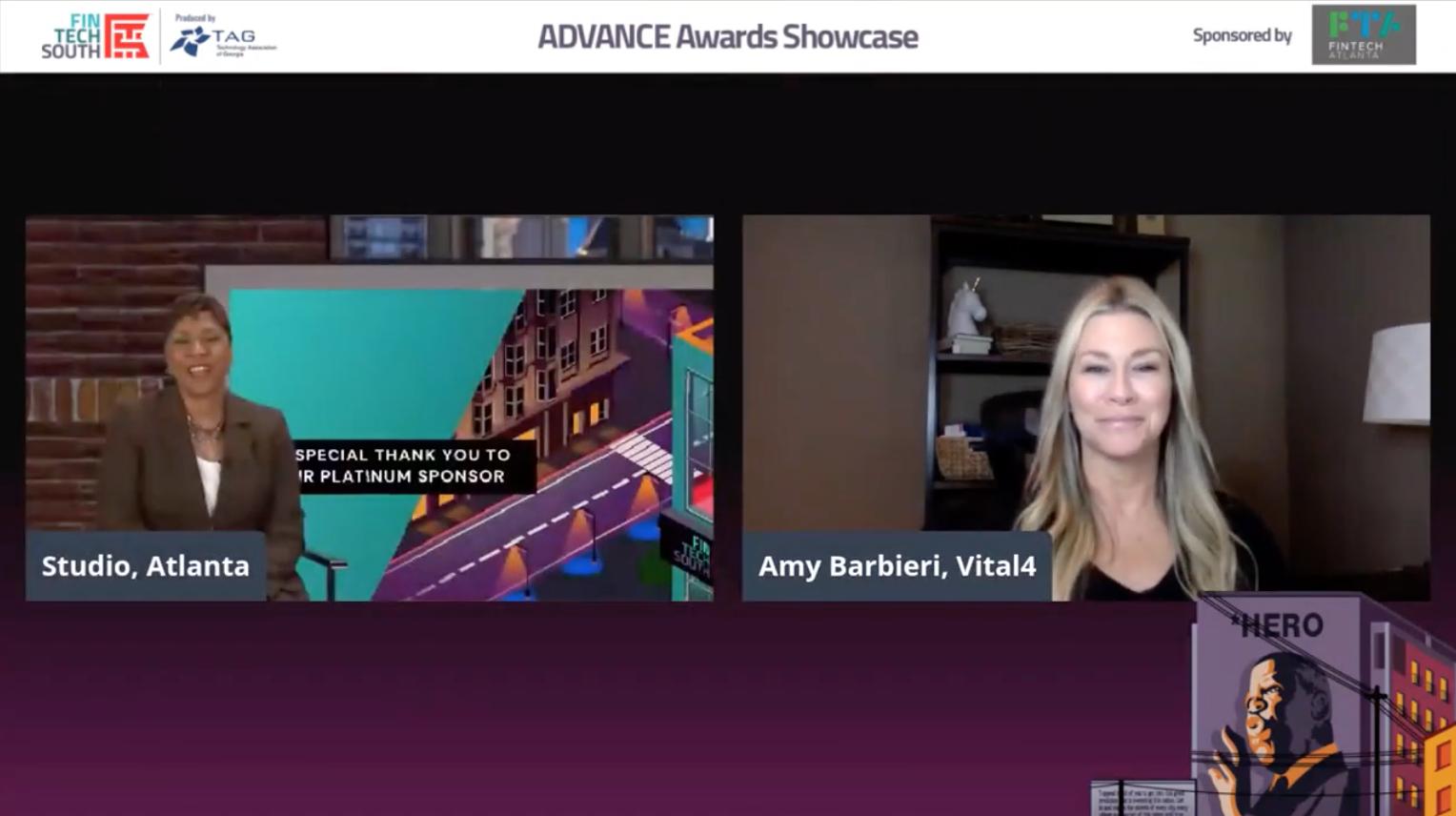 Sharing Vital4's Mission at the 2021 ADVANCE Awards Showcase